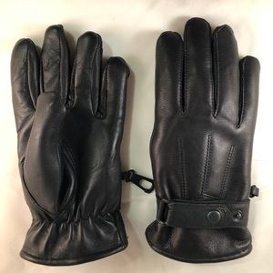 Men's Real leather winter gloves  wool line